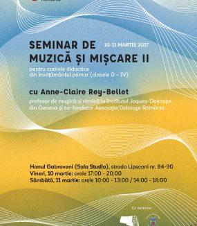 Seminar practic de muzică și mișcare II pentru cadrele didactice din învățământul primar (clasele 0 – IV)