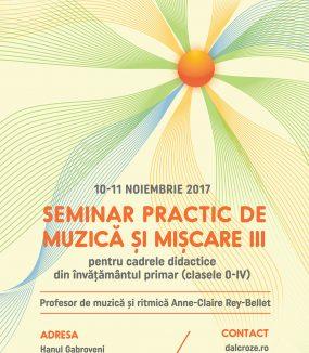 Seminar practic de muzică și mișcare pentru cadrele didactice din învățământul primar (clasele 0 – IV)