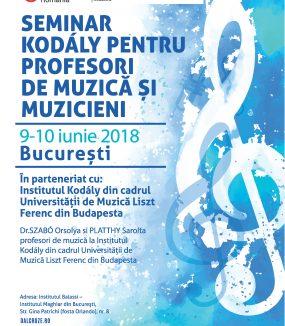 Seminar de muzică Kodály pentru profesori de muzică și muzicieni